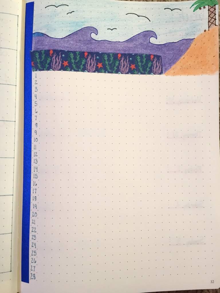 February   Bullet Journal Amino