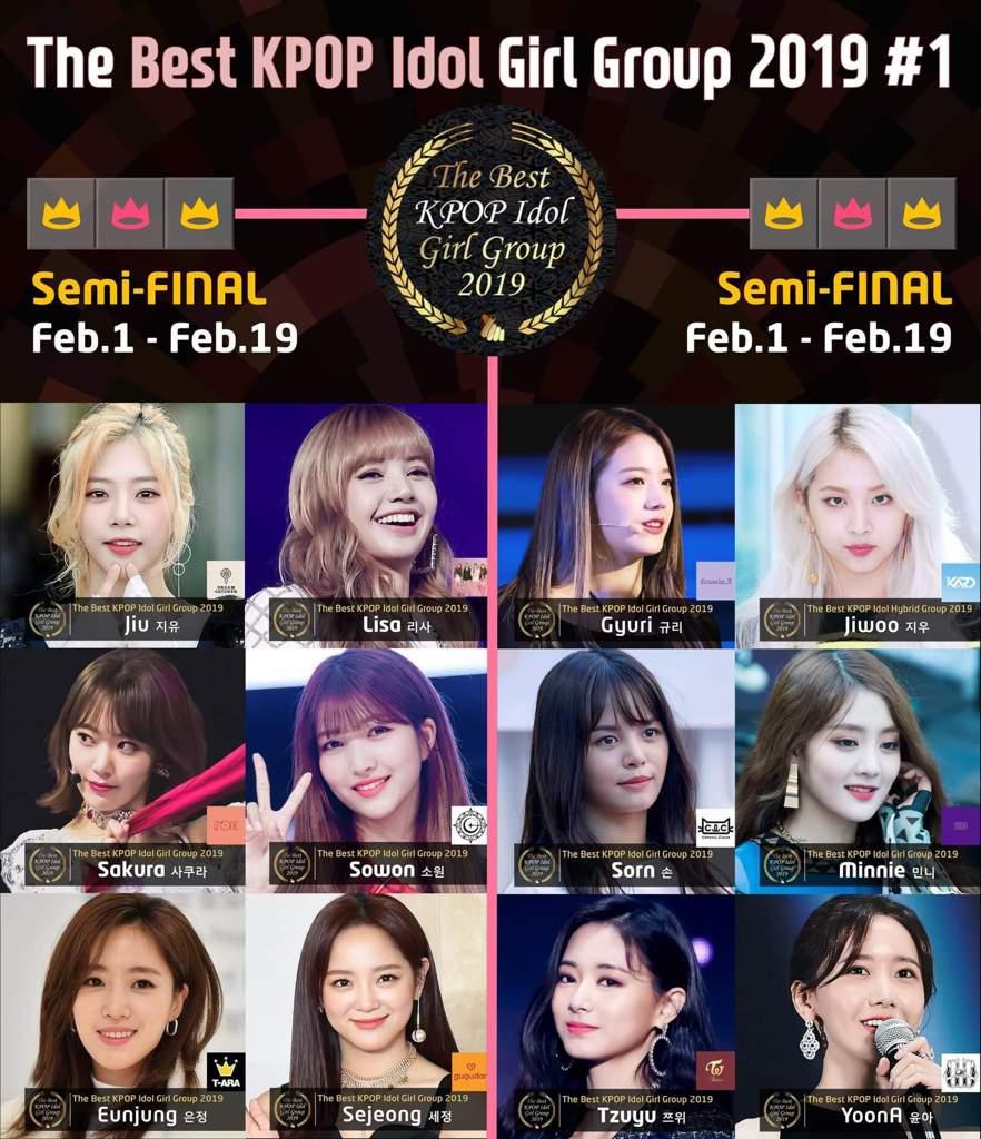 🏆The Best KPOP Idol Girl Group 2019 #1🎤 🎯Semi-FINAL : ~ Feb 19