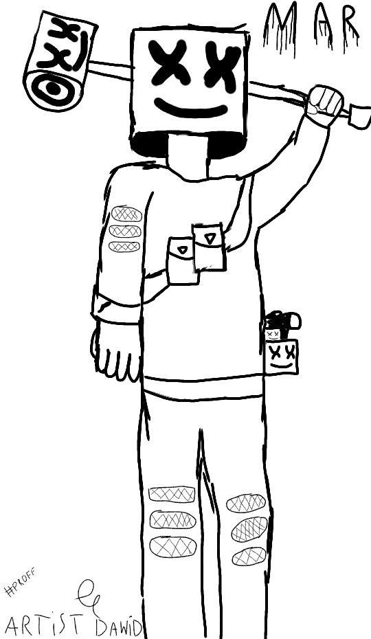 Soo I Re Draw Marshmello Fortnite Battle Royale Armory Amino