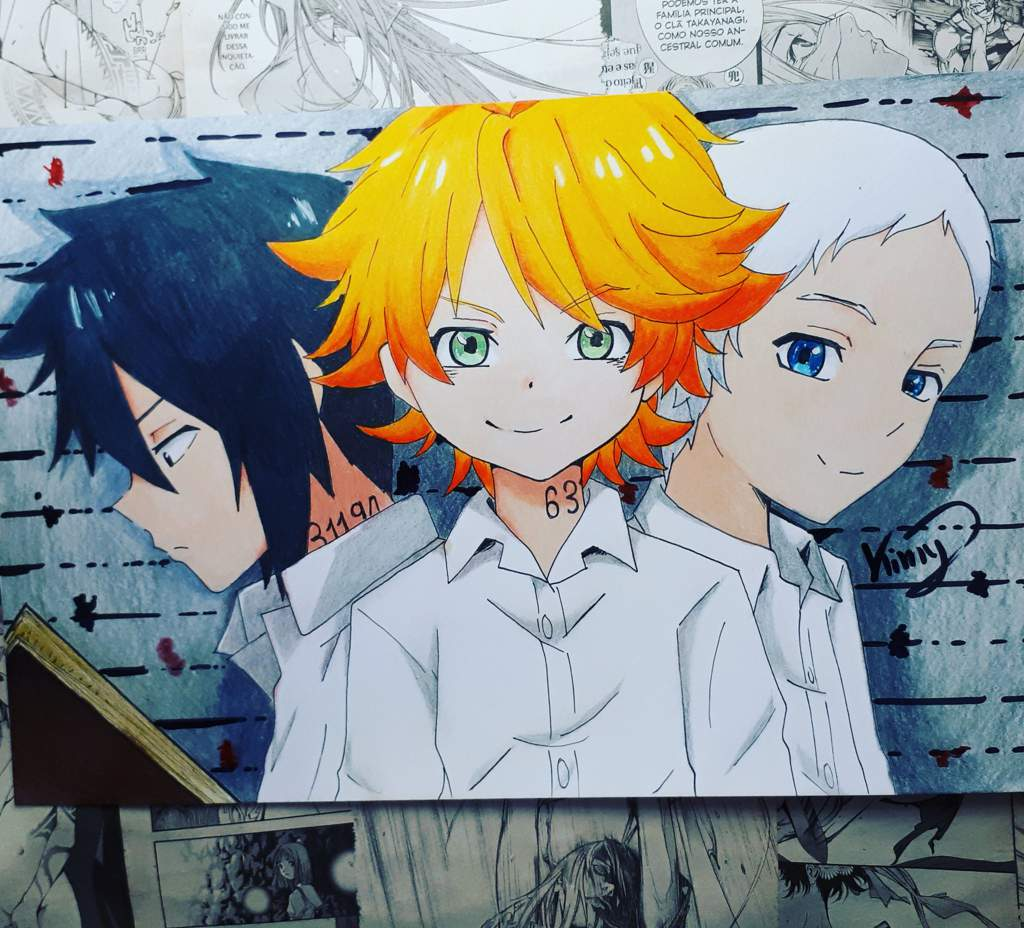 Emma Ray E Norman The Promised Neverland Anime Amino