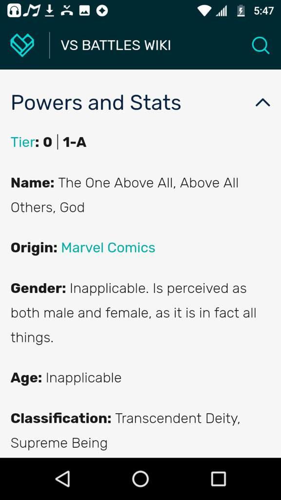Marvel Vs Battle Wiki
