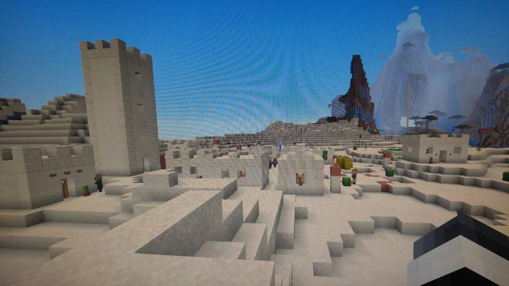 Coral reef and desert village at spawn seed | Minecraft Amino
