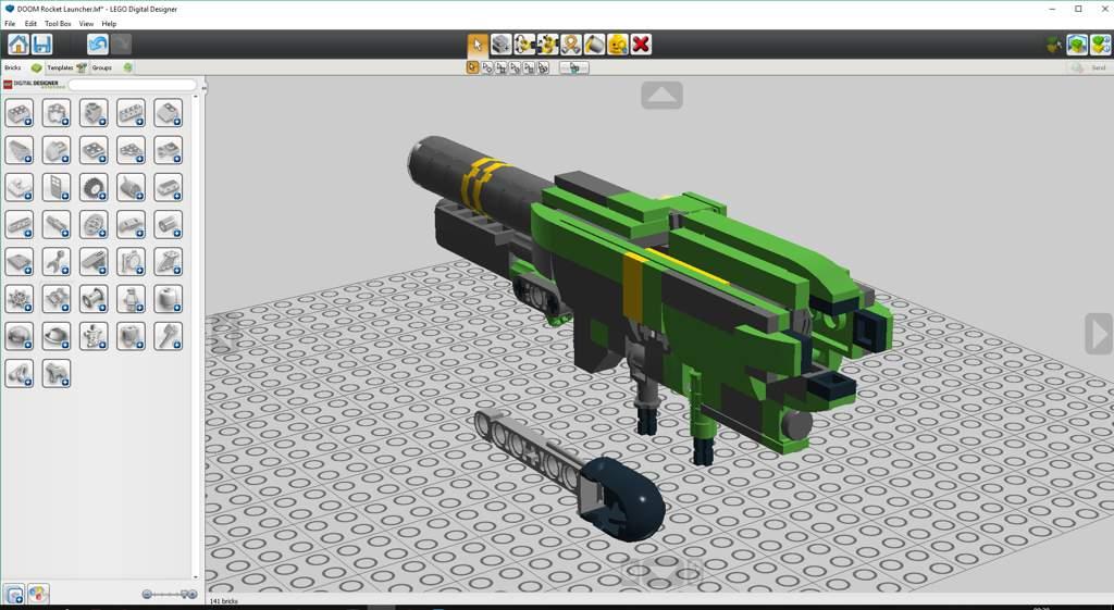 LEGO DOOM Rocket Launcher (LDD) | LEGO Amino