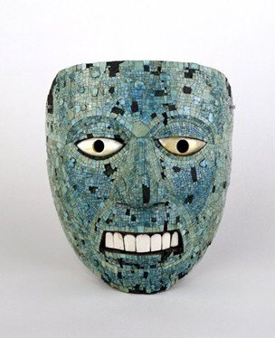 Aztec Mask on Display in Britain