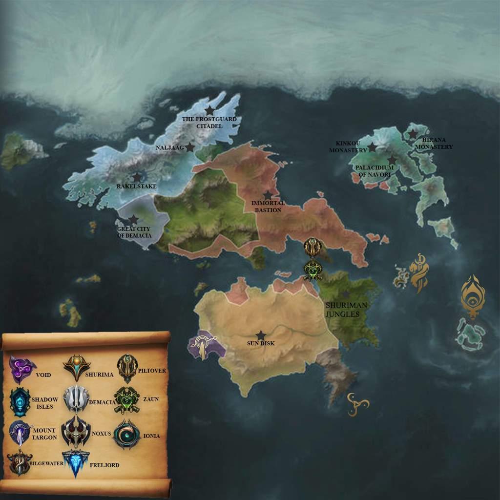 Runeterra political map ver. 1.0   League Of Legends ...