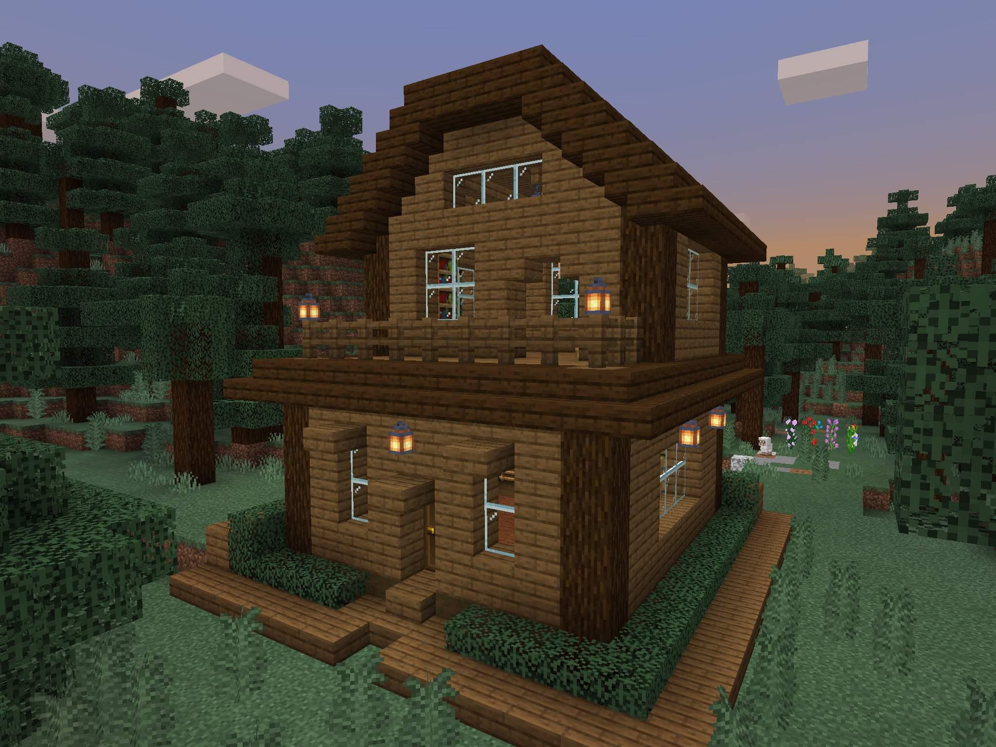 12+ Minecraft Spruce House Background // Minecraft Ideas Collection