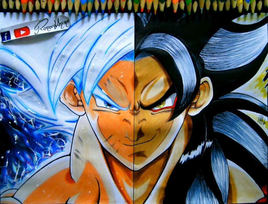 Todas Las Fases De Goku Para Colorear: Goku En Ultra Instinto Para Pintar