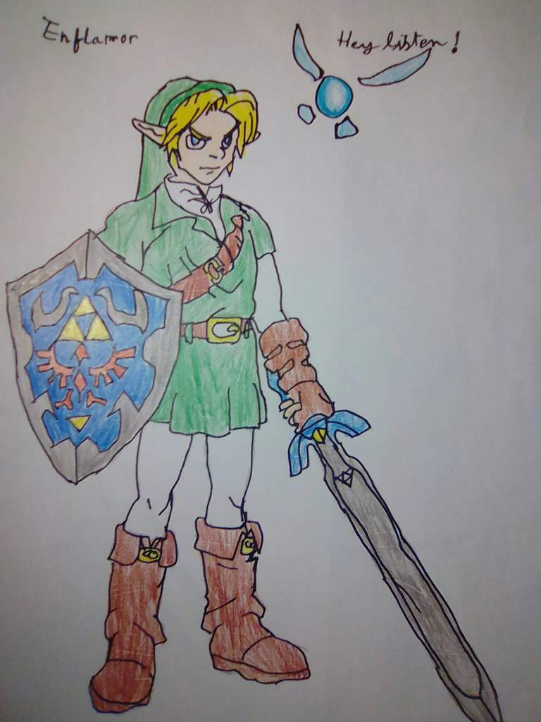 Mon Dessin De Link Oot Navi The Legend Of Zelda Français