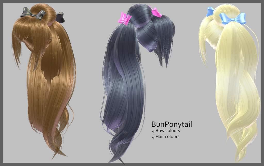 Bun Ponytail - DL | MMD Amino