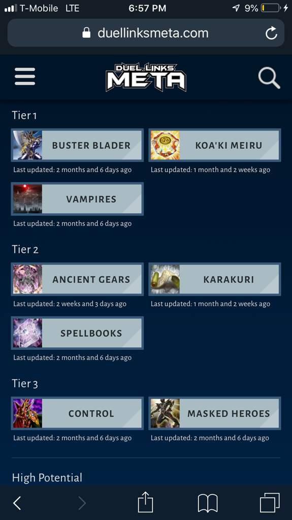 Tier List   Yu-Gi-Oh! Duel Links! Amino