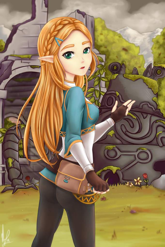 Princess Zelda Fan Art Breath Of The Wild Kawaii Amino