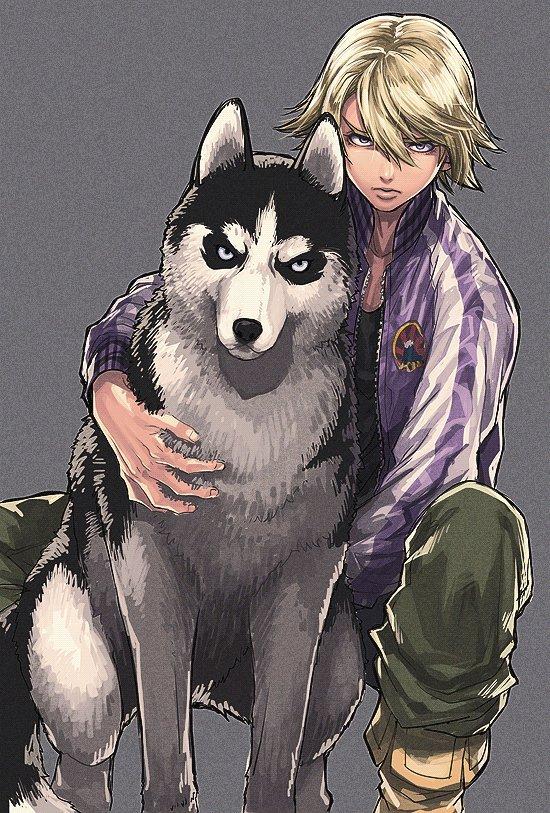 Рисунки аниме собаки люди