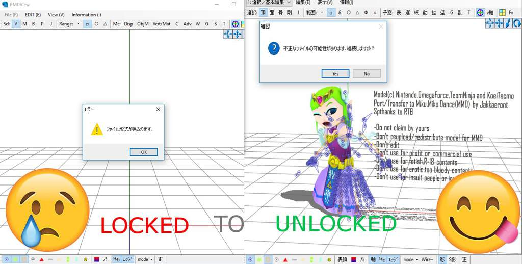 Updated) how to unlock pmx mmd models guide   Vocaloid Roleplay