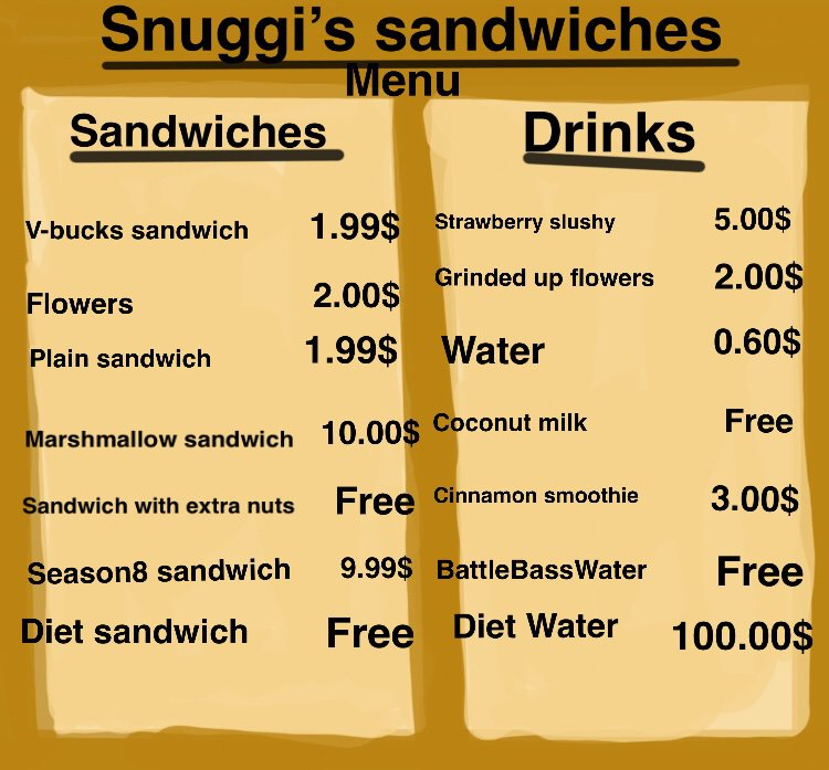 Welcome To Snuggi S Sandwiches Fortnite Battle Royale Armory Amino