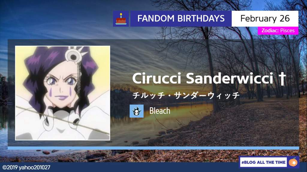 Happy Birthday Cirruci Sanderwicci Bleach Amino