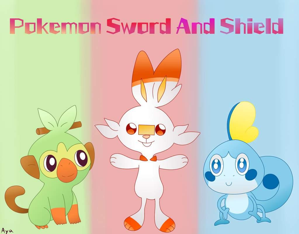 Pokemon Art 1 Galar Starters Pokemon Sword And Shield Amino