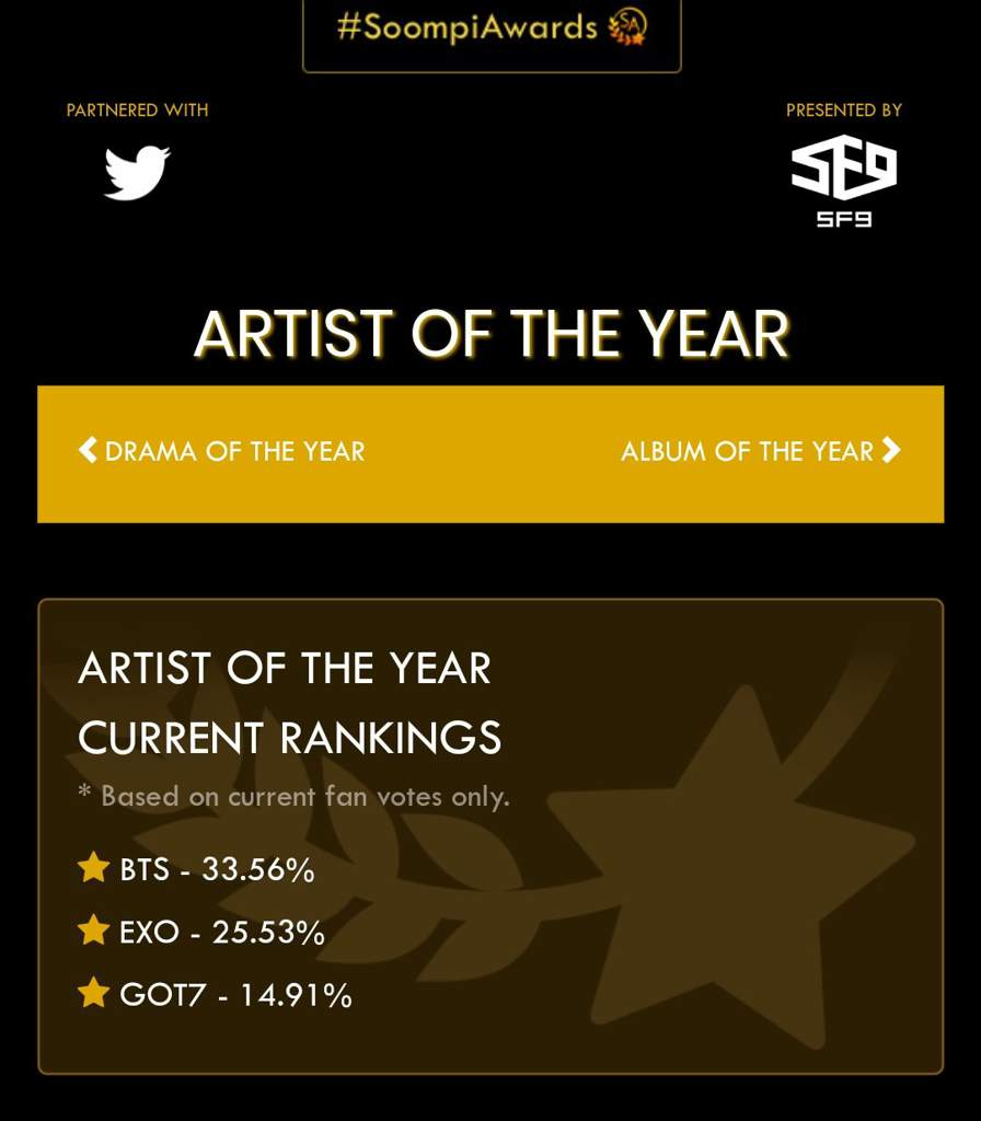 Voting tutorial for Soompi Awards 🏆 | GOT7 Amino