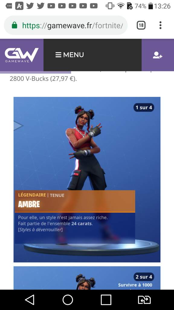 Image Fortnite Skin Ambre | Fortnite Free V Bucks Download