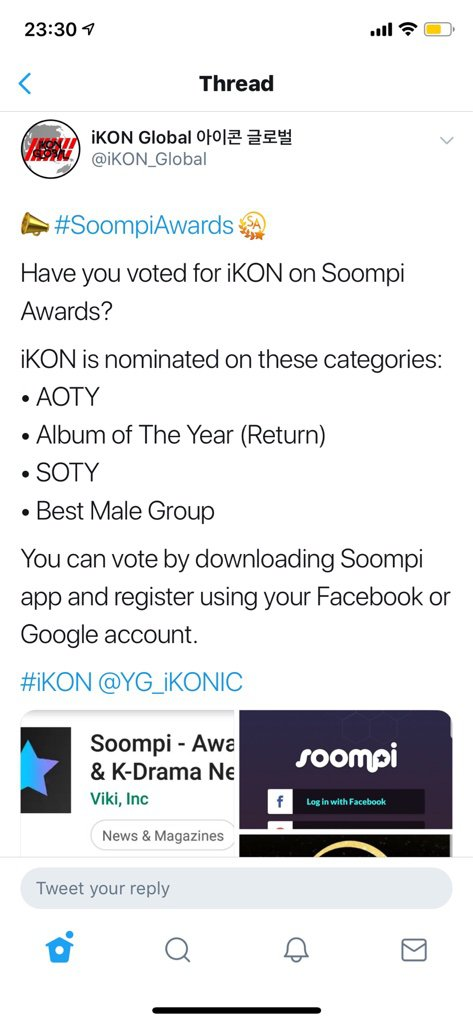 Hey everyone! Our iKON is nominated on Soompi Award  Go help