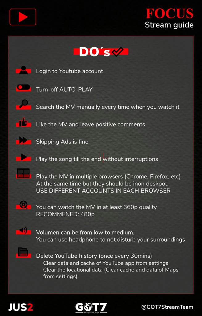 YOUTUBE INSTRUCTIONS] Pls follow below instructions to avoid
