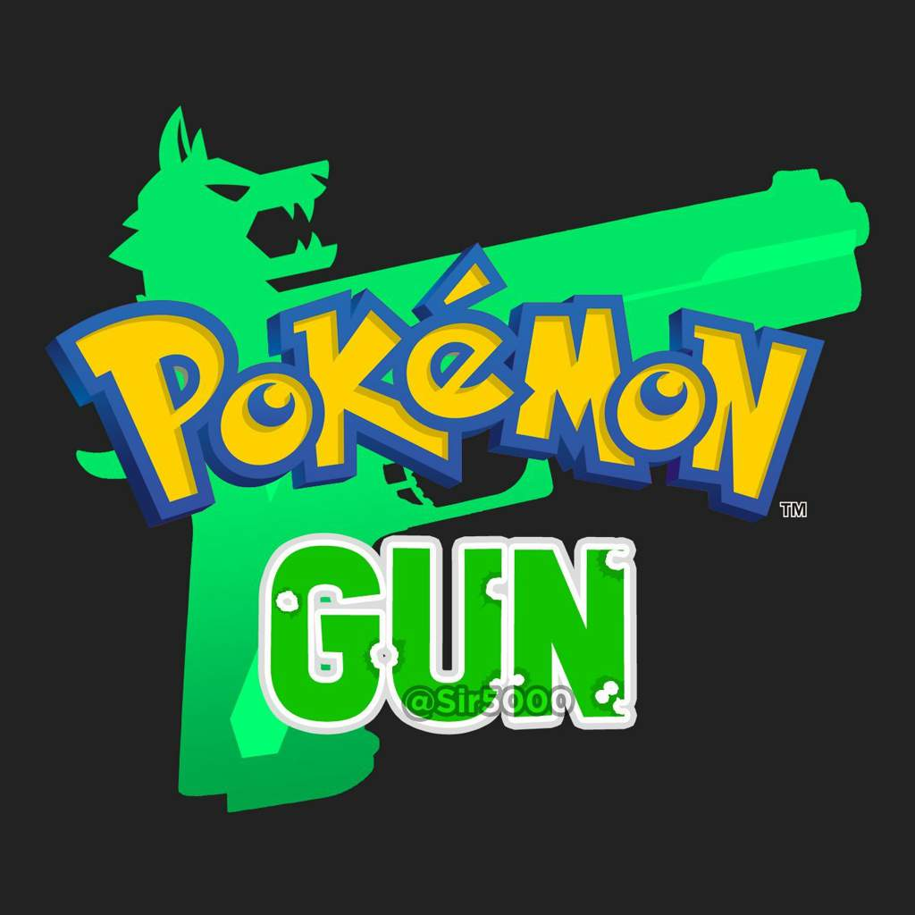 Pokemon Sword And Shield And Gun Logos Redesigned As Lycanrocs