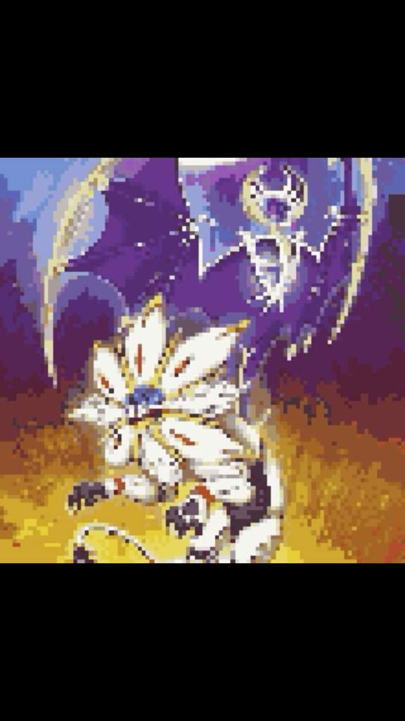 Solgaleo And Lunala Pixel Art Pokémon Amino