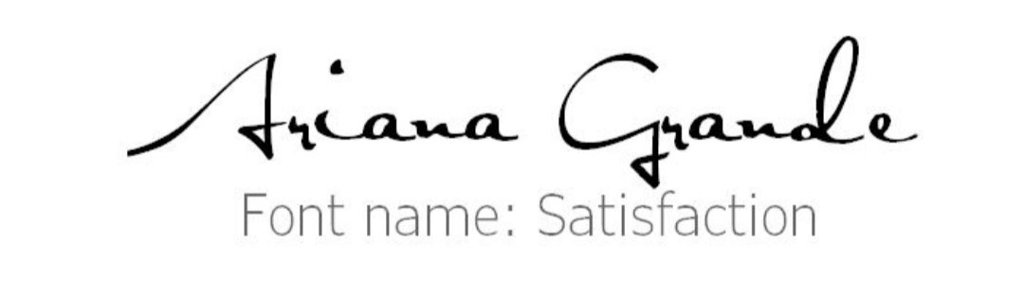 Here's some fonts that Ari used for albums, etc    Ariana