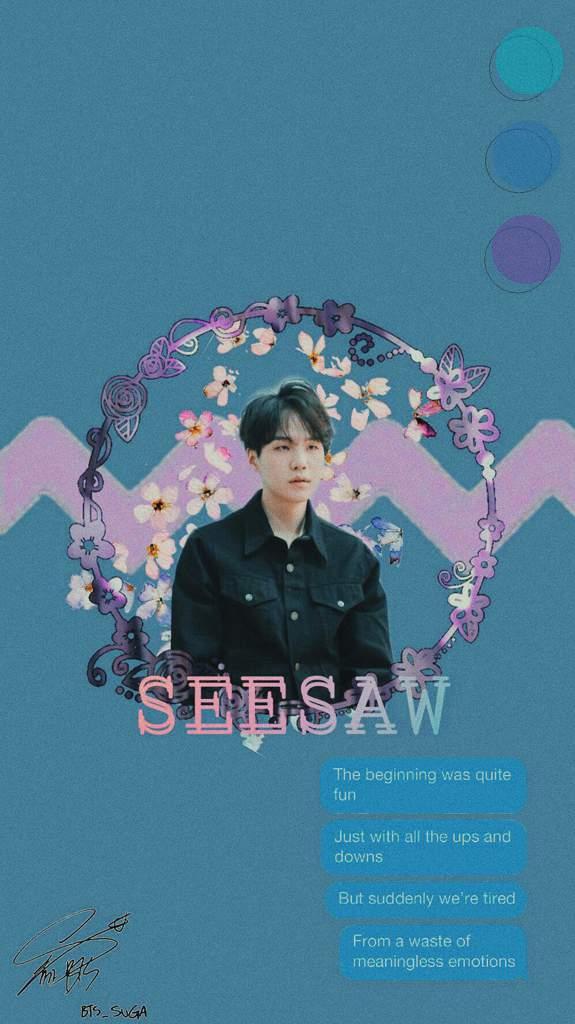 Yoongi Seesaw Aesthetic Wallpaper Army S Amino