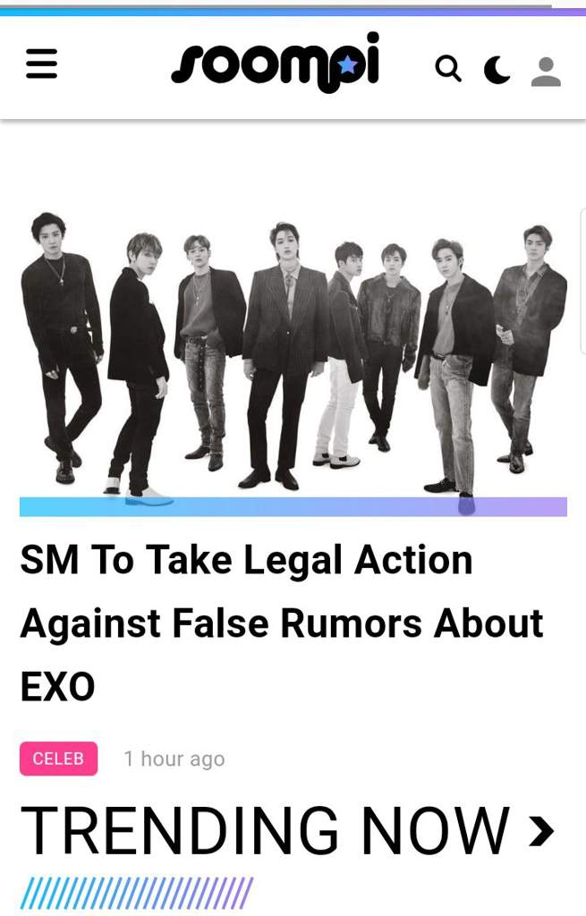 Exo: Finally Sm stand for Exo 👍 -& also don't forget to