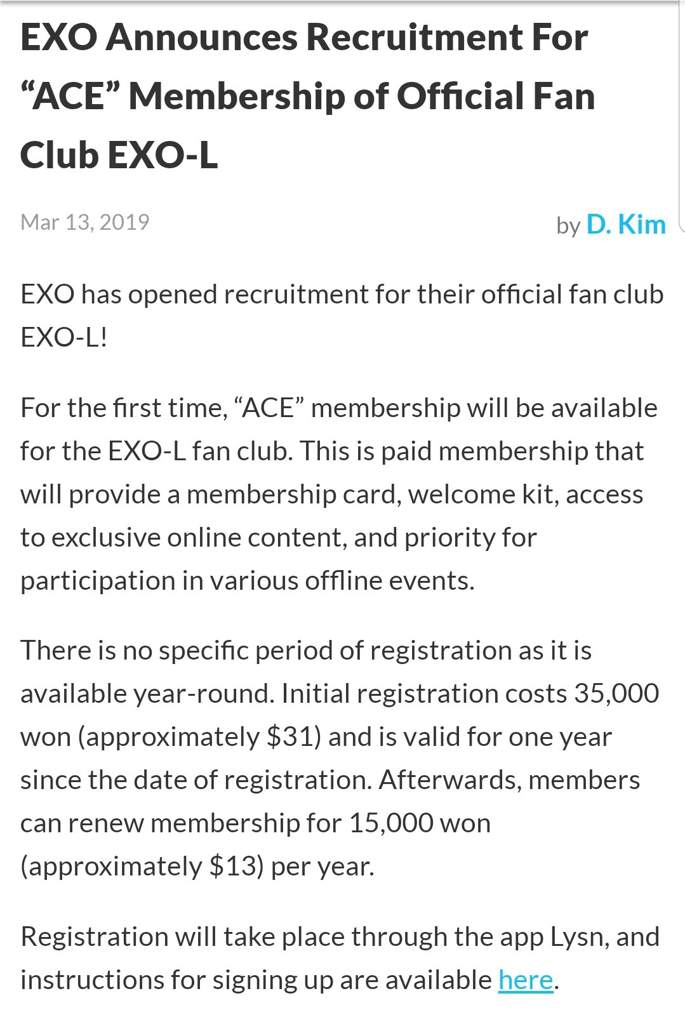 NEWS]Recruitment for Official EXOL Fanclub Opens!   Exo-L's