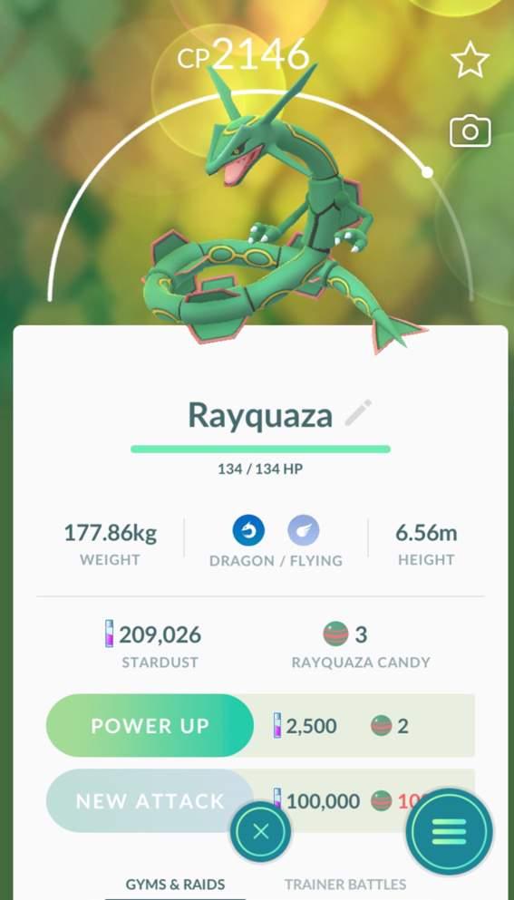 rayquaza in pokemon go