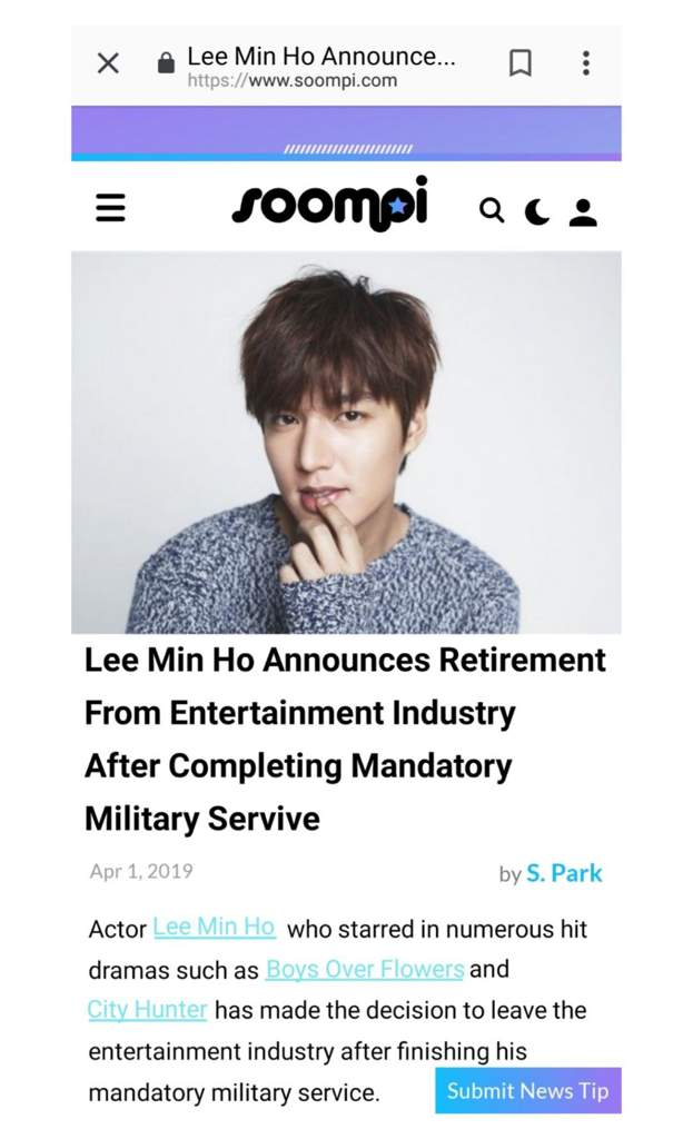 BREAKING: Lee Min Ho to Retire!! | K-Drama Amino