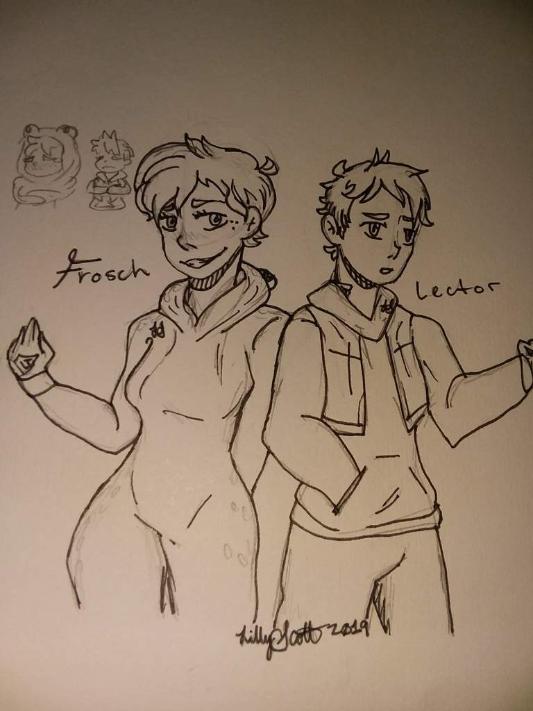 frosch and lector  human  fairy tail amino