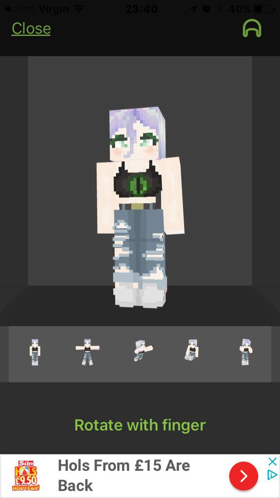 Enderman Character Skin Thing Idk But I Need To Post