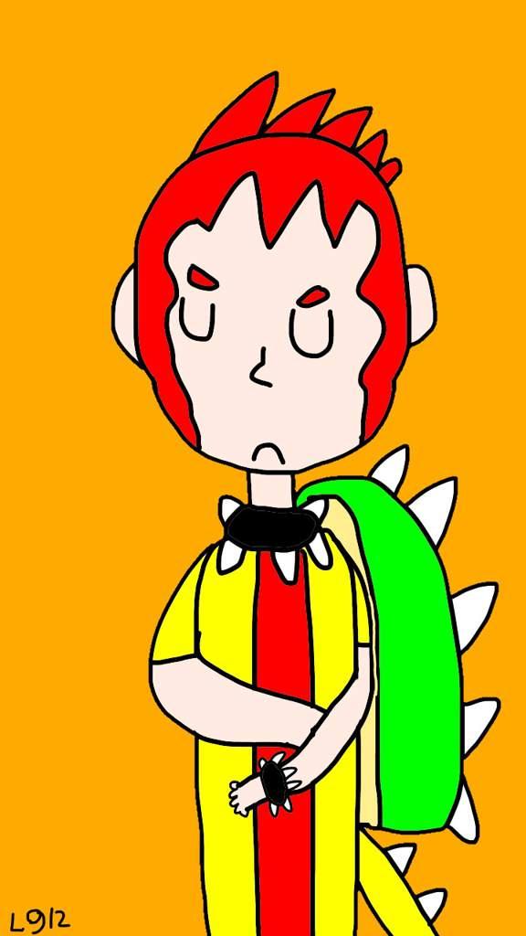 A Human Bowser Drawing Mario Amino
