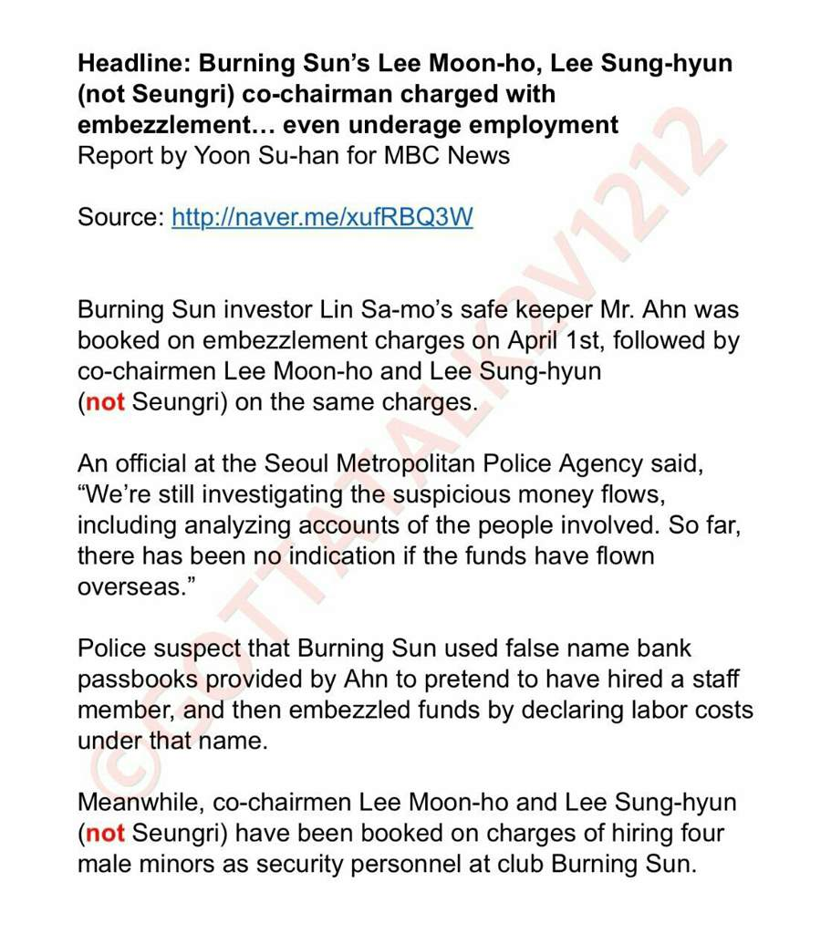 📢 (Last updated: 190410) Progress of Investigations About