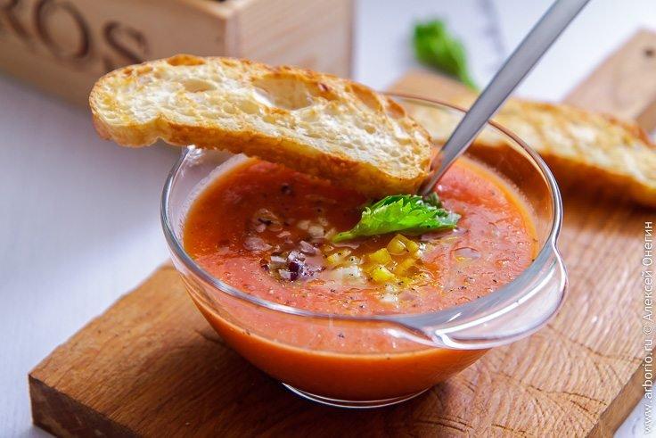 праздник были холодный суп гаспачо рецепт с фото пошагово рецепт