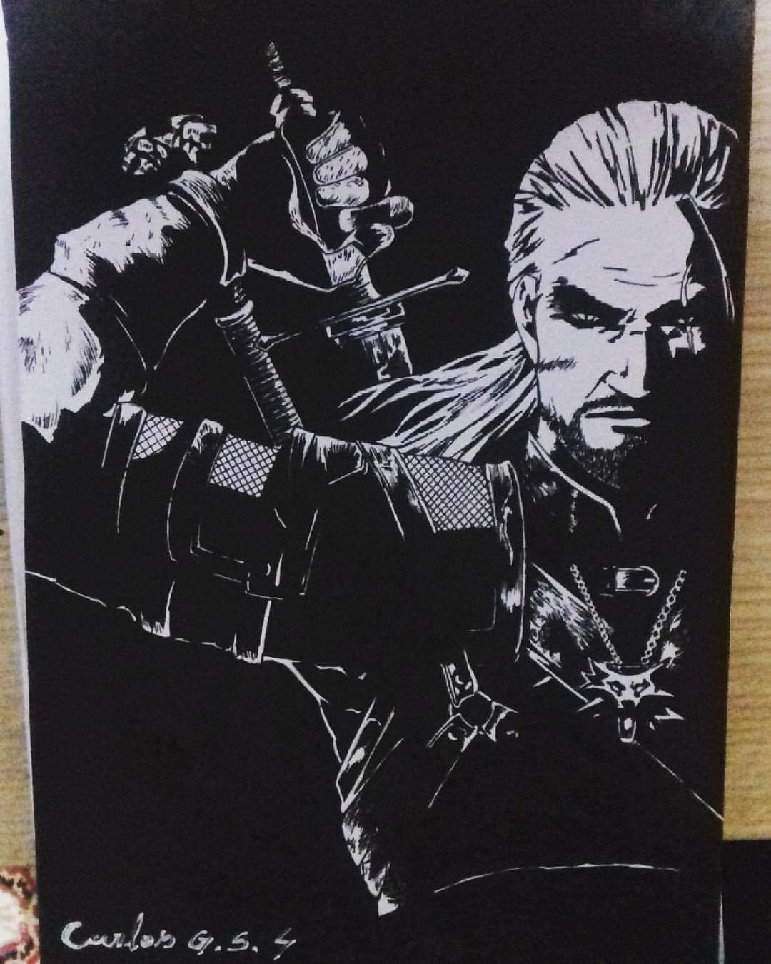 Desenho Do Personagem Geralt De Rivia Do Game The Witcher 3