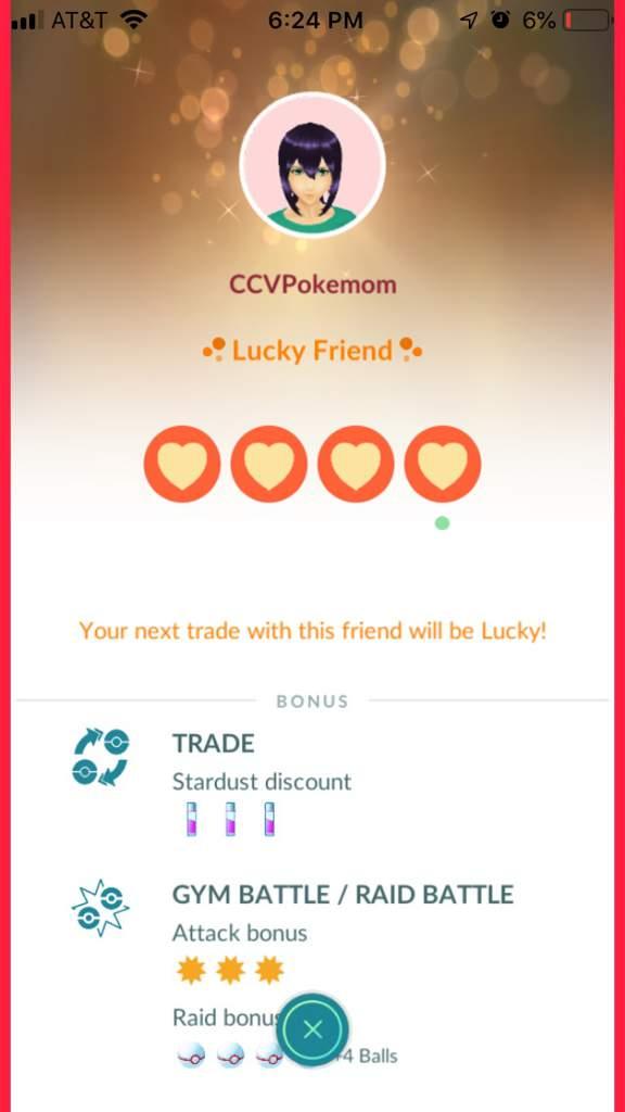 Pokemon go lucky friend