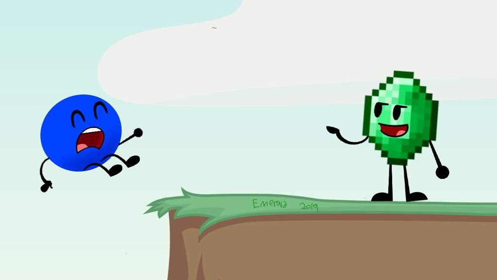BFDI Assets: (Emerald And Blue Circle) | Object Shows Amino