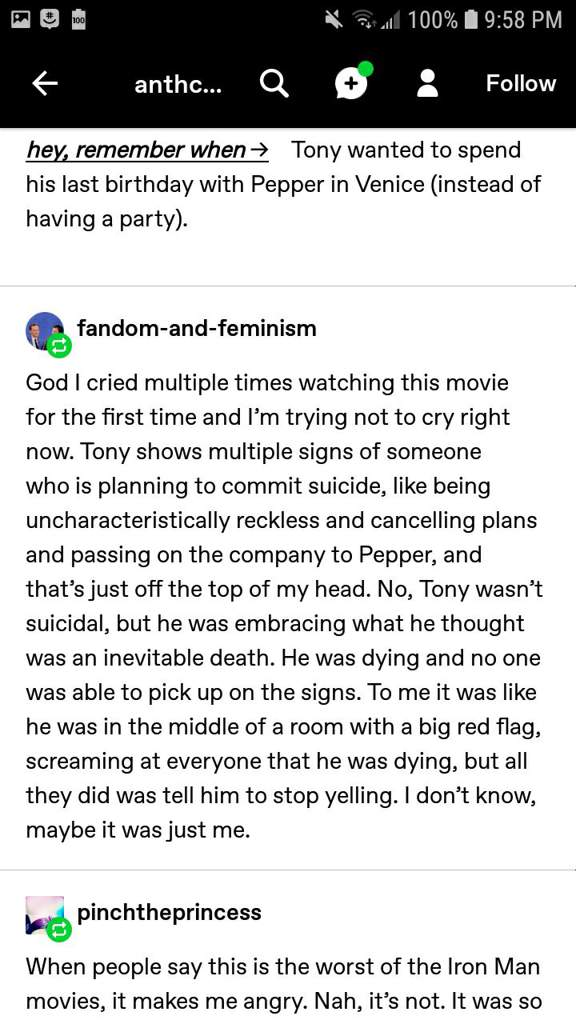 Tumblr plus story of deaged avengers and Tony being in