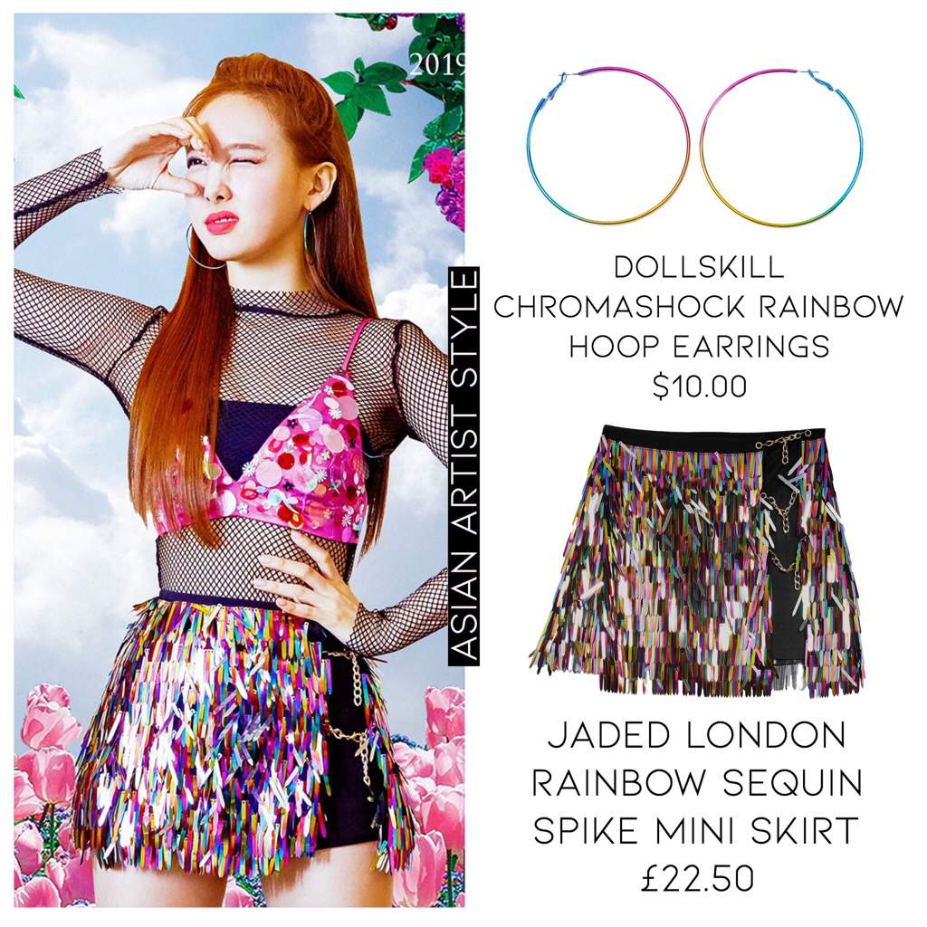 b3c71a78b ... Rainbow Sequin Spike Mini Skirt. user uploaded image