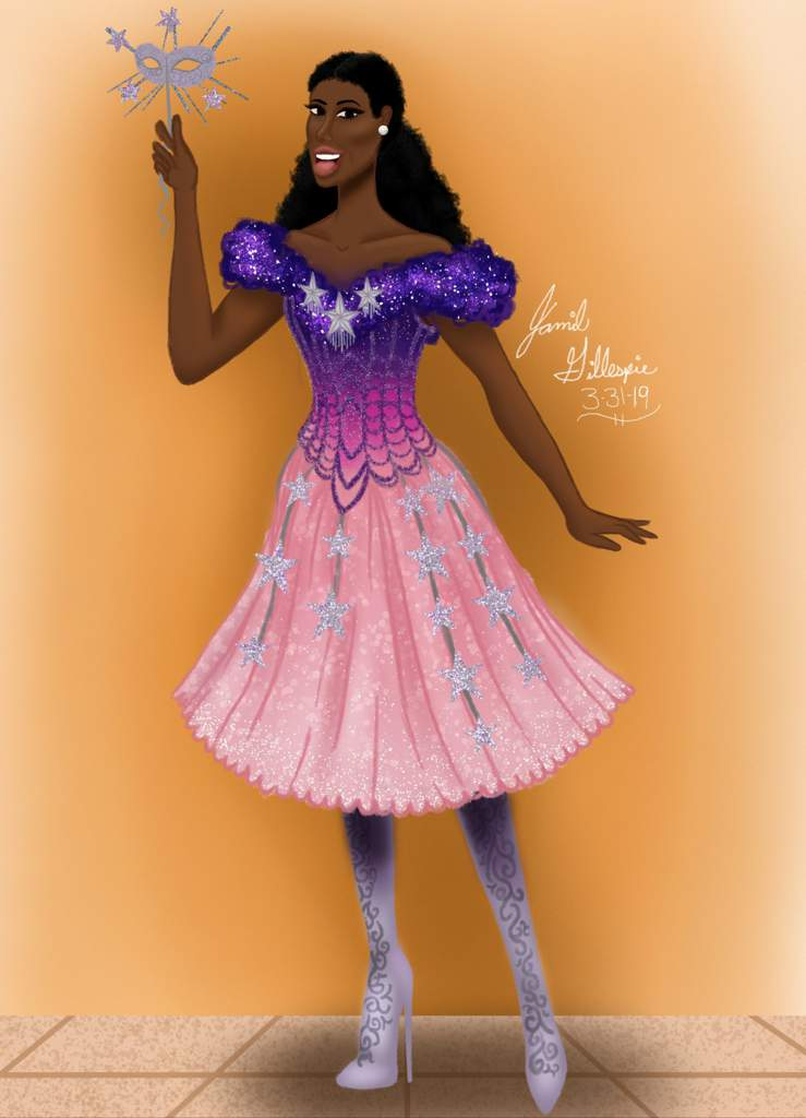 ca8ecdd1b2ce Drawing of Christine Daee in her Star Princess Masquerade dress. | -Young  Artists- Amino