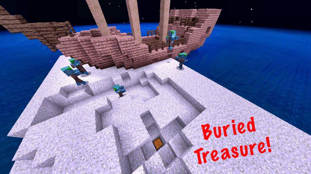 Seed: Rare Exposed Ship + Coral Monument! | Minecraft Amino