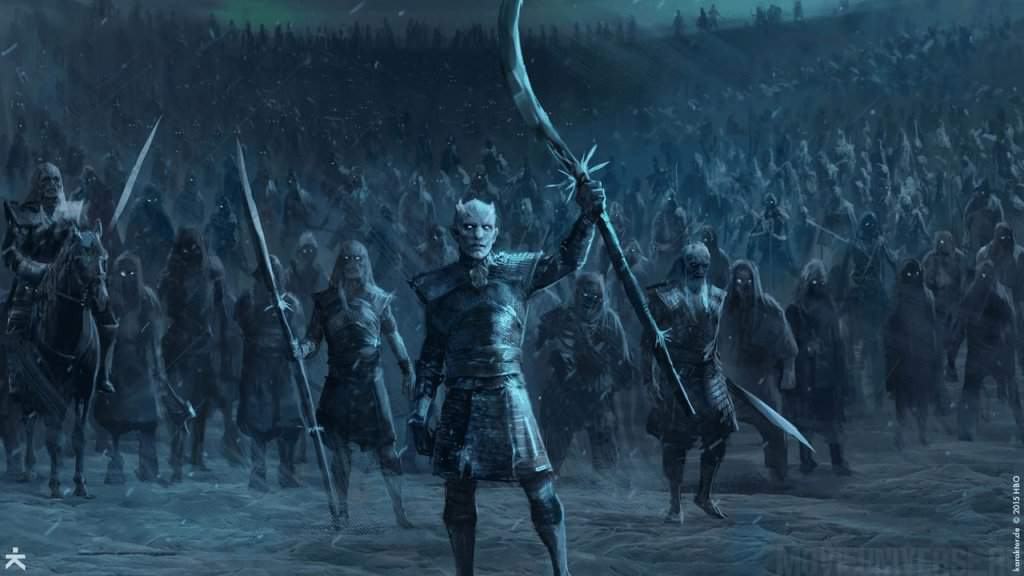 Exército White Walkers em Game of Thrones.