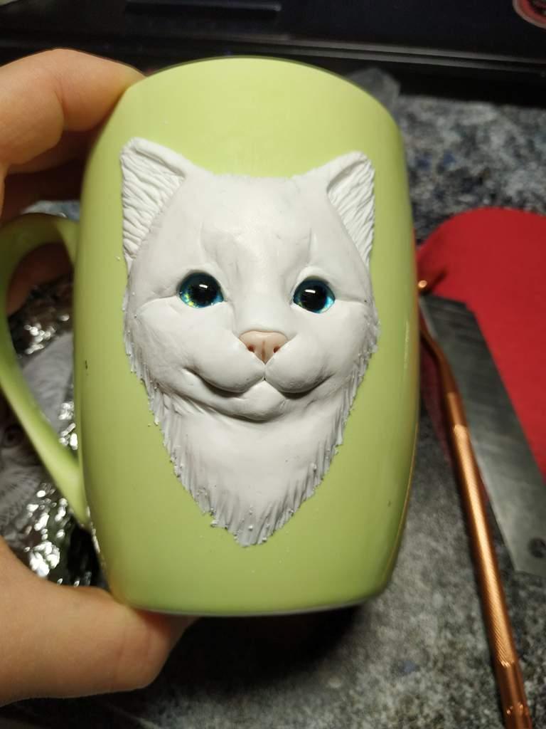 Cute Polymer Cat On Mug Cats Amino