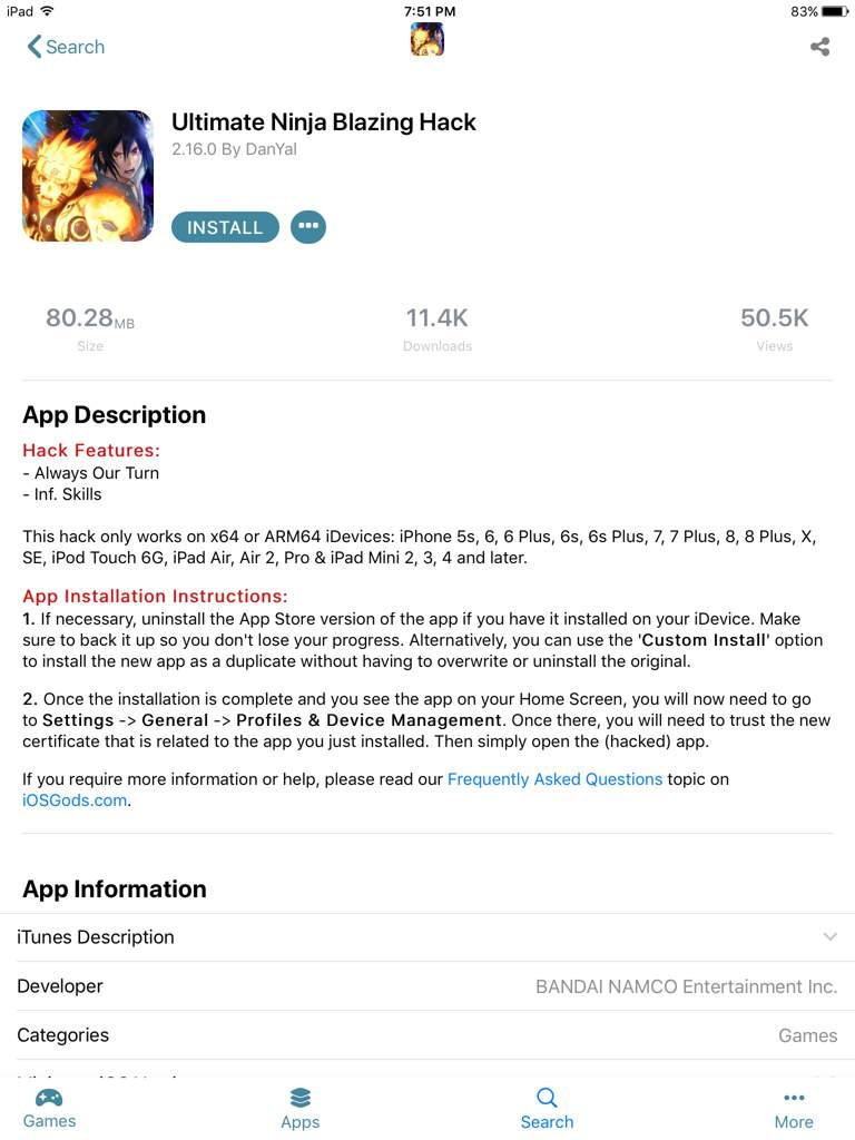 Concerning iOS gods mod |  NARUTO BLAZING  Amino