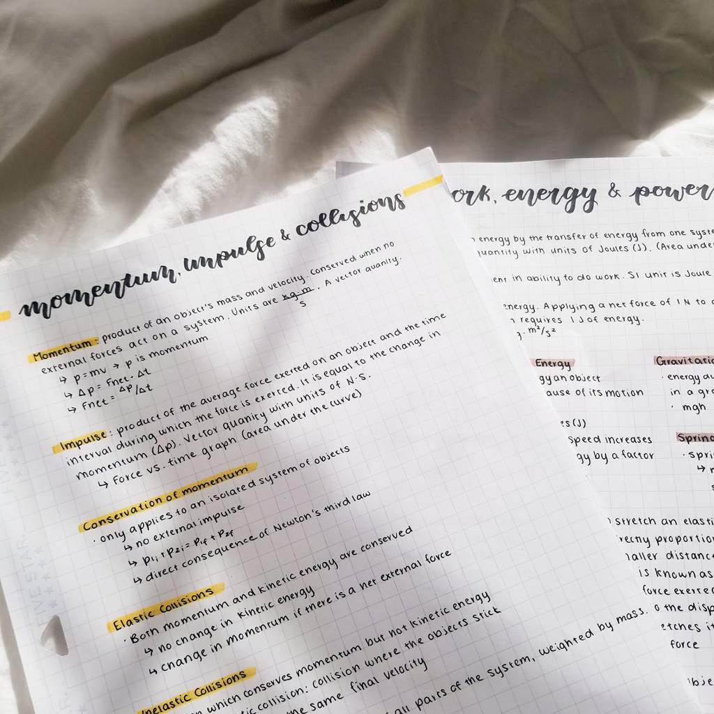 ap physics 1 notes ft  a dying junior | Studying Amino Amino