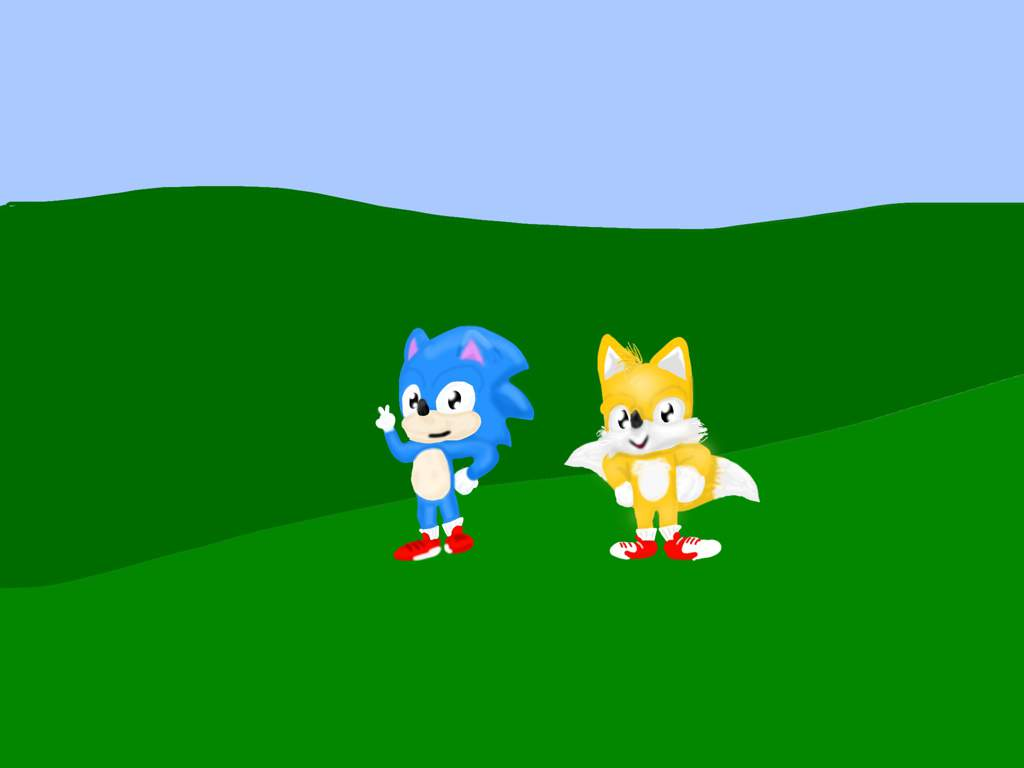 Classic Sonic And Classic Tails Movie Redesign Sonic The Hedgehog Amino