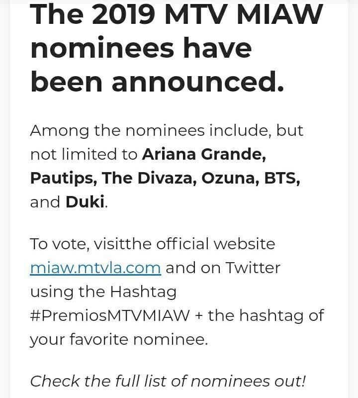 2019 MTV MIAW Nominees GOT7 – # MTVLAKPOPGOT7 | GOT7 Amino